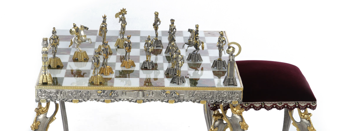 Chessboard Art table and sitting